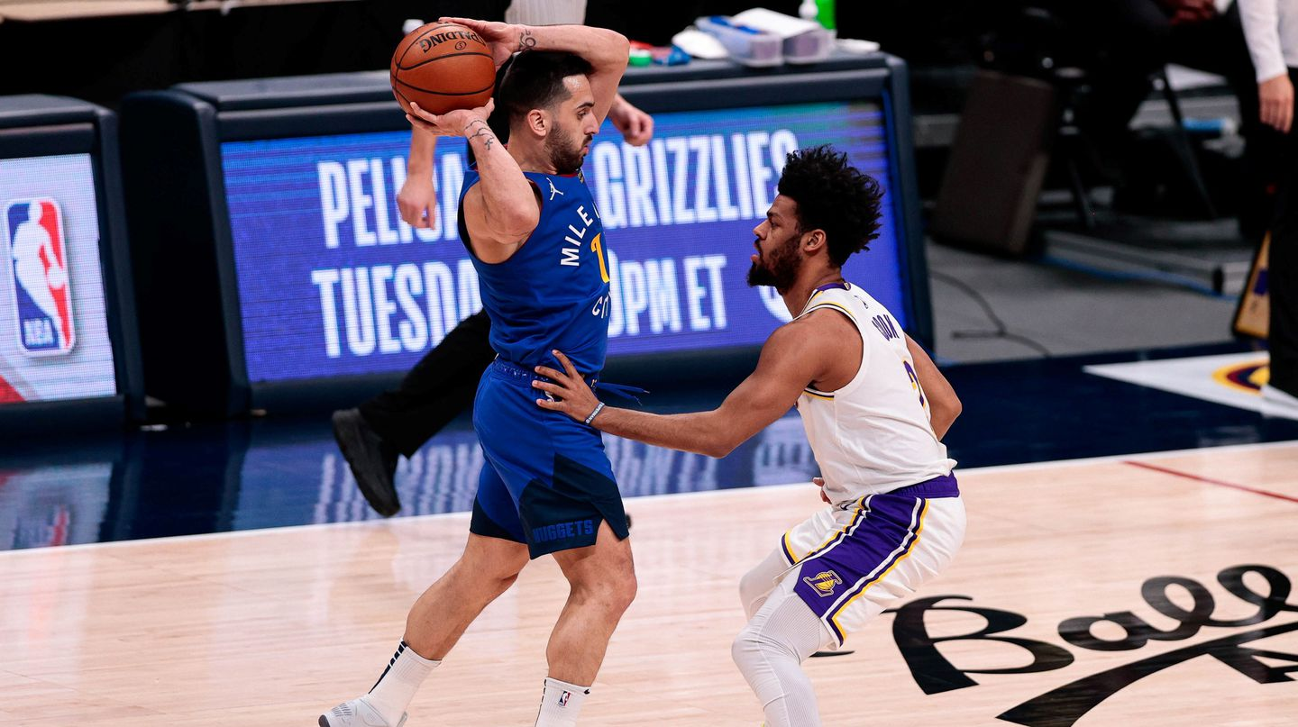 "Facundo Campazzo brilló ante Los Lakers: su genial ""no-look pass"" que la NBA calificó de ""absurdo"""
